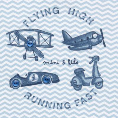 Imagem 3 do produto Body curto com Bermuda em algodão egípcio c/ jato de cerâmica e filtro solar fps 50 Race Pilot - Mini & Kids - CJBE0001.80 CON.BODY M/C C/BERMUDA-SUEDINE-GG