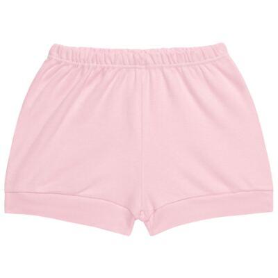 Imagem 4 do produto Body curto com Shorts para bebe em suedine Rosa - Vicky Lipe - CSH1376 CONJ. BODY M/C C/ SHORTS SUEDINE ROSA BB-P