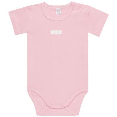 Imagem 2 do produto Body curto com Shorts para bebe em suedine Rosa - Vicky Lipe - CSH1376 CONJ. BODY M/C C/ SHORTS SUEDINE ROSA BB-2