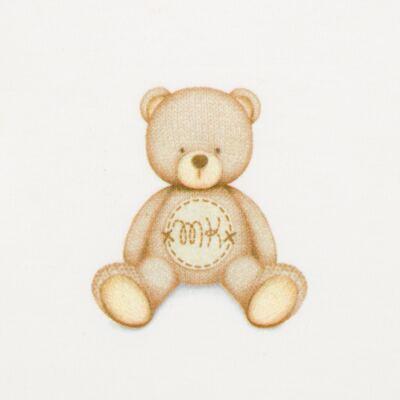 Imagem 3 do produto Body longo c/ Calça (mijão) para bebe  em suedine Naturé - Baby Classic - BC51.200 CONJ. BODY ML COM MIJAO SUEDINE URSINHOS-M