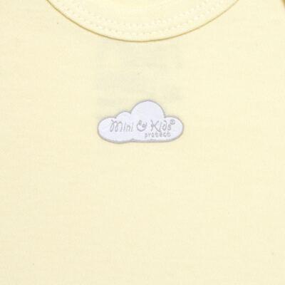 Imagem 2 do produto Body curto para bebe em suedine Baby Protect Amarelo - Mini & Kids - BDTC1736 BODY M/C TRANSP. SUEDINE AMARELO-GG