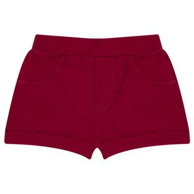 Imagem 5 do produto Body curto com Shorts para bebe em algodão egípcio c/ jato de cerâmica e filtro solar fps 50 Moranguinhos - Mini & Kids - BBI1745 CONJ BODY M/C C/ SHORTS SUEDINE MORANGOS-P
