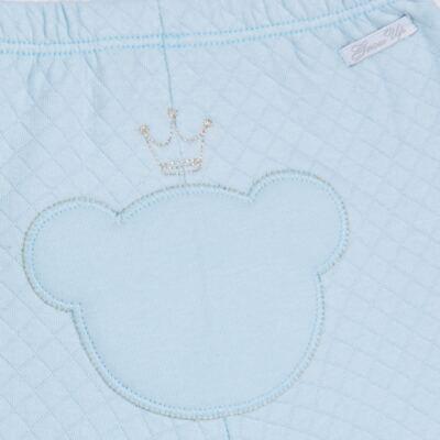 Imagem 7 do produto Body longo com Calça (mijão) em suedine Azul Matelassê - Grow Up - 01020218.0003 CONJ. PG BEAR FRIEND AZUL-G