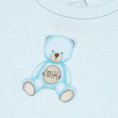 Imagem 2 do produto Body curto para bebe em Pima Cotton Supreme Prime Bear Azul - Mini & Kids - BDMC0001.63 BODY MANGA CURTA - SUEDINE-GG