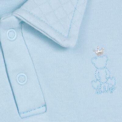Imagem 3 do produto Body longo com Calça (mijão) em suedine Azul Matelassê - Grow Up - 01020218.0003 CONJ. PG BEAR FRIEND AZUL-P