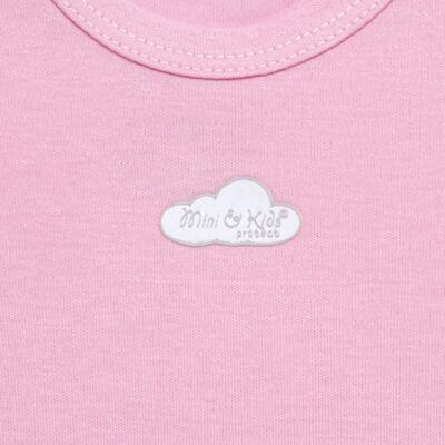 Imagem 2 do produto Body curto para bebe em suedine Baby Protect Rosa - Mini & Kids - BDTC1734 BODY M/C TRANSP. SUEDINE ROSA-RN