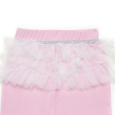 Imagem 7 do produto Body curto com Calça (mijão) para bebe em spandex Ballerine - Mini & Kids - CTU1356 BODY MC E MIJÃO C/BABADO TULE EXPAND BALLET-GG