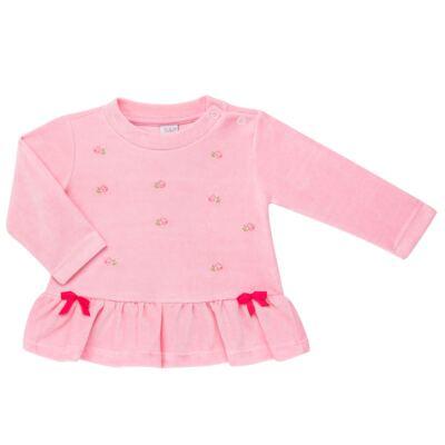 Imagem 2 do produto Bata com Calça para bebe em plush Little Roses - Baby Classic - 976881.218 CONJUNTO BATA COM CALÇA - PLUSH ROSA-G