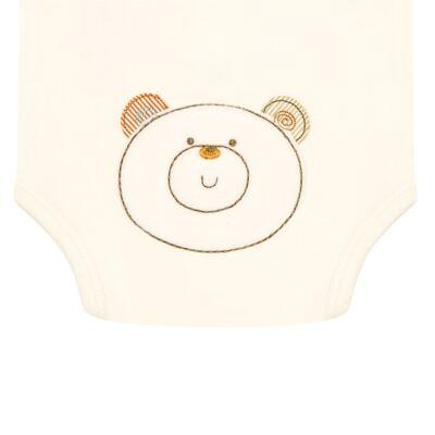 Imagem 3 do produto Body curto para bebe com abertura frontal em algodão egípcio c/ jato de cerâmica e filtro solar fps 50 Nature Beary Bear- Mini & Kids - BCA966 BODY M/C C/ ABERT.FRONTAL SUEDINE LITTLE FRIENDS 1-GG
