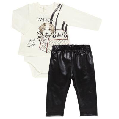 Imagem 1 do produto Body Bata com Legging para bebe cirré Fashion Glam - Mini & Kids - CJVL0001.233 CONJ.BODY C/LEGGING - VISCONFORT-GG
