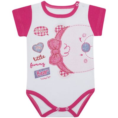Imagem 1 do produto Body curto para bebe em suedine Grizzy Bear - Vicky Lipe - BCD572 BODY MC SUEDINE URSA-G