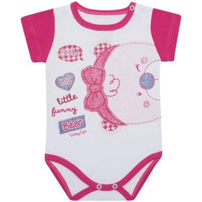 Imagem 1 do produto Body curto para bebe em suedine Grizzy Bear - Vicky Lipe - BCD572 BODY MC SUEDINE URSA-M