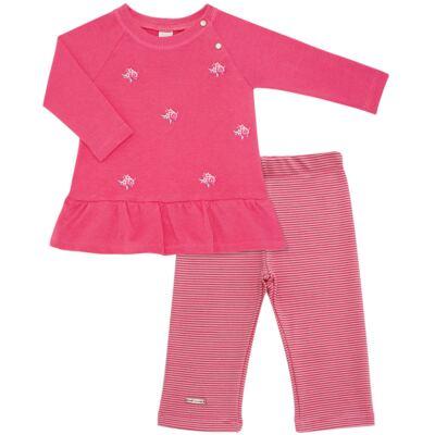 Imagem 1 do produto Bata com Legging para bebe em suedine Loire - Baby Classic - 1993964 VESTIDO M/L C/LEGGING SUEDINE FLORAL 2-2