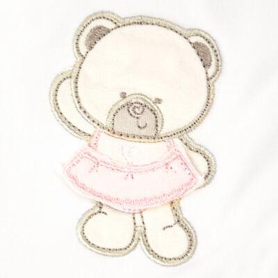 Imagem 2 do produto Manta dupla face em Pima Cotton Supreme Pink Baby Bear - Mini & Kids - MVS1526 MANTA AVULSA SUEDINE URSINHA