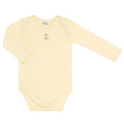 Imagem 2 do produto Body longo com Calça para bebe em suedine Amarelo - Vicky Lipe - 1822071.170 BODY M/L TRANSP MIJÃO SUEDINE HC AMARELO-M