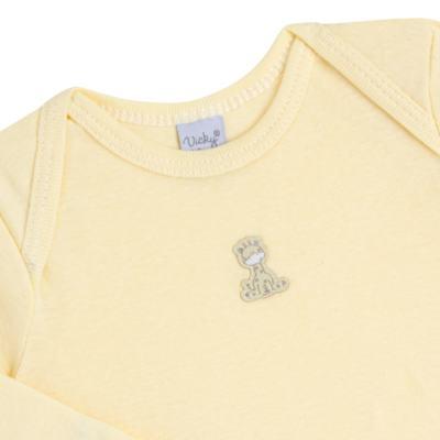 Imagem 3 do produto Body longo com Calça para bebe em suedine Amarelo - Vicky Lipe - 1822071.170 BODY M/L TRANSP MIJÃO SUEDINE HC AMARELO-M