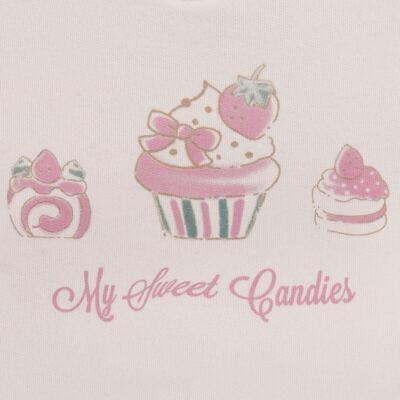Imagem 3 do produto Blusão com Calça para bebe em moletom Cupcake - Mini Mix - LTCM03 CONJUNTO MOLETOM CUPCAKE ROSA BB/CORAL-2