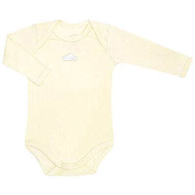 Imagem 2 do produto Body longo com Calça em suedine Baby Protect Amarelo - Mini & Kids - CJBM1736 CONJ. BODY ML TRANSP. MIJÃO SUEDINE AMARELO-M