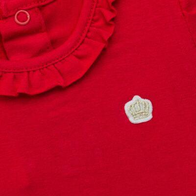 Imagem 2 do produto Body gola frufru para bebe em cotton Vermelho - Baby Classic - 02040001.05 BODY M/C C/ FRUFRU N GOLA COTTON VERMELHO-P