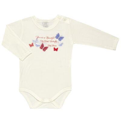 Imagem 2 do produto Body c/ Calça frufru e Faixa para bebe em viscolycra Butterflies - Baby Classic - 1621628 BODY COM MIJÃO COM FRU FRU VISCOLYCRA BUTTERFLY-M