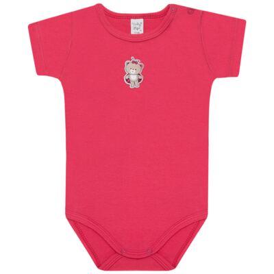 Imagem 2 do produto Body curto com Shorts para bebe em suedine Ladybug - Vicky Lipe - CSH562 CJ. BODY MC C SHORT SUEDINE URSA-3