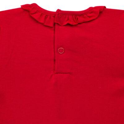 Imagem 3 do produto Body gola frufru para bebe em cotton Vermelho - Baby Classic - 02040001.05 BODY M/C C/ FRUFRU N GOLA COTTON VERMELHO-GG