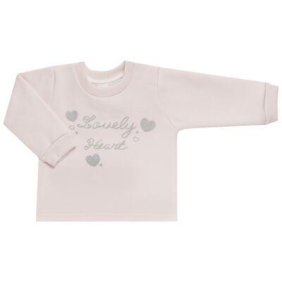 Imagem 2 do produto Blusão com Calça para bebe em moletom Lovely Heart - Mini Mix - LTCM04 CONJUNTO MOLETOM LOVELY HEART ROSA BB/MESCLA-3