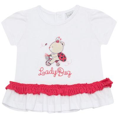 Imagem 2 do produto Bata com Calcinha para bebe em cotton Ladybug - Vicky Lipe - 831562 CONJUNTO BATA C/ CALCINHA COTTON URSA-GG