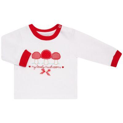 Imagem 2 do produto Blusa com Calça para bebe moletom Cogumelos - Vicky Lipe - 873274 BLUSÃO M/L C/ CALÇA MOLETON COGUMELO-P