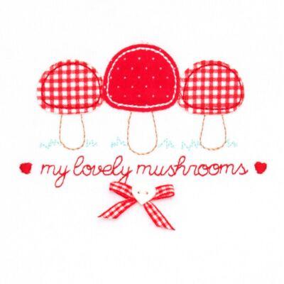 Imagem 3 do produto Blusa com Calça para bebe moletom Cogumelos - Vicky Lipe - 873274 BLUSÃO M/L C/ CALÇA MOLETON COGUMELO-P