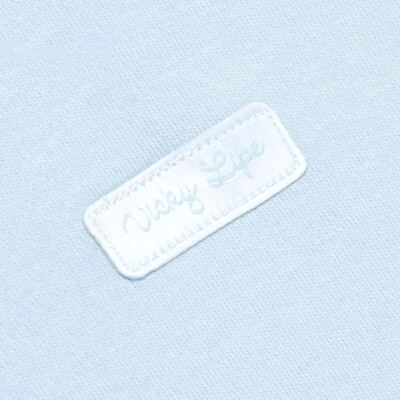 Imagem 3 do produto Body curto com Shorts em suedine Azul - Vicky Lipe