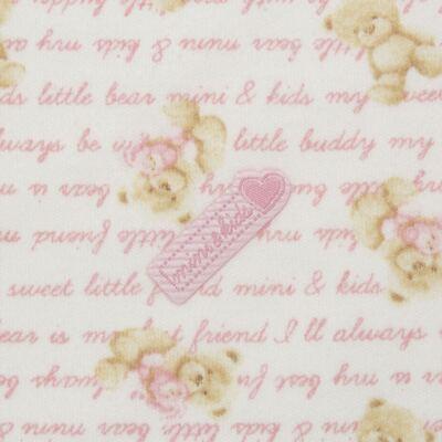 Imagem 2 do produto Manta para bebe em algodão egípcio c/ jato de cerâmica e filtro solar fps 50 Maternity Pink Bear - Mini & Kids - MSD1659 MANTA AVULSA SUEDINE URSA MENINA 2
