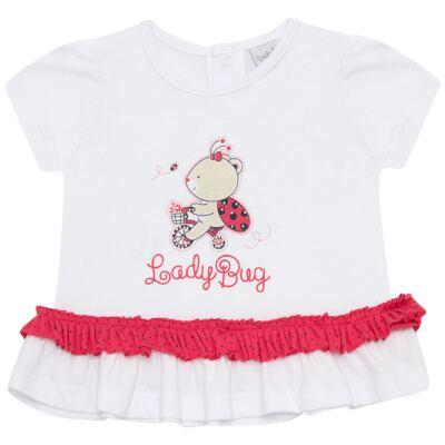 Imagem 2 do produto Bata com Calcinha para bebe em cotton Ladybug - Vicky Lipe - 831562 CONJUNTO BATA C/ CALCINHA COTTON URSA-G