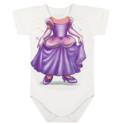 Imagem 2 do produto Body curto para bebe em malha Mini Princesa - Mini Mix - MXBSM1613 BODY CURTO EM MALHA MINI PRINCESA-G