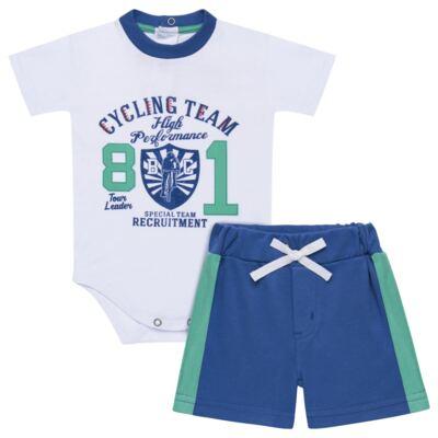 Imagem 1 do produto Body com Shorts em suedine Burnett- Baby Classic - 22441415 BODY MC C/ BERMUDA SUEDINE BICYCLE -2