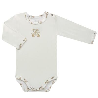 Imagem 2 do produto Body longo c/ Calça para bebe em suedine Ivory Bear - Dedeka - DDK16501/E100 Conjunto de Body Suedine Urso Bege -RN