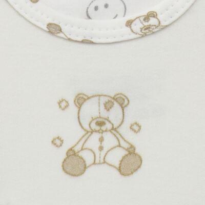 Imagem 3 do produto Body longo c/ Calça para bebe em suedine Ivory Bear - Dedeka - DDK16501/E100 Conjunto de Body Suedine Urso Bege -RN
