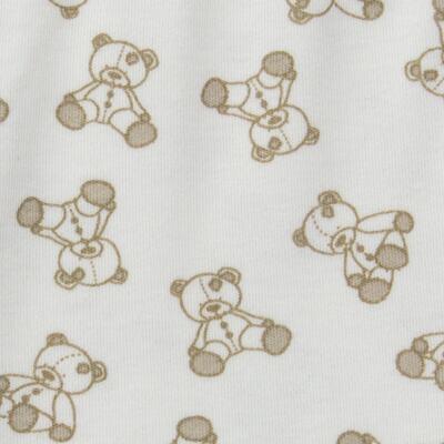 Imagem 5 do produto Body longo c/ Calça para bebe em suedine Ivory Bear - Dedeka - DDK16501/E100 Conjunto de Body Suedine Urso Bege -RN
