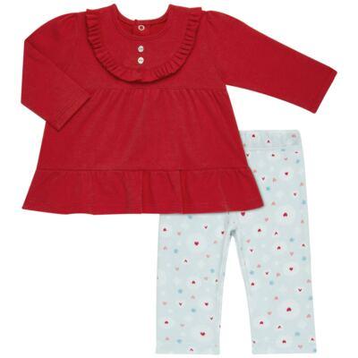 Imagem 1 do produto Bata com Legging para bebe em algodão egípcio c/ jato de cerâmica e filtro solar fps 50  Adore - Mini & Kids - CJBG0001.86 CON.BATA M/L BABAODS C/LEGGING-SUEDINE-M