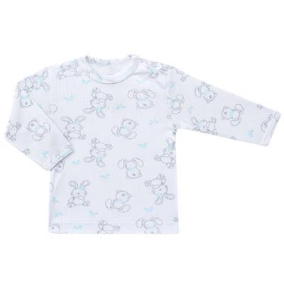Imagem 2 do produto Blusa c/ Calça para bebe em algodão canelado Rabbit - Dedeka - DDK0860/E104 Conjunto Caneldo Estampado Coelho-RN