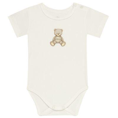 Imagem 1 do produto Body curto para bebe em Pima Cotton Supreme Prime Bear Marfim - Mini & Kids - BDMC0001.65 BODY MANGA CURTA - SUEDINE-RN