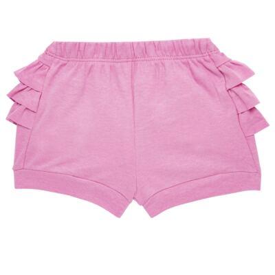 Imagem 5 do produto Body curto com Shorts para bebe em algodão egípcio c/ jato de cerâmica e filtro solar fps 50 L'hortensia- Mini & Kids - BSBA1746 CONJ. BODY MC C SHORTS SUEDINE HORTENCIAS-P