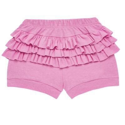 Imagem 4 do produto Body curto com Shorts para bebe em algodão egípcio c/ jato de cerâmica e filtro solar fps 50 L'hortensia- Mini & Kids - BSBA1746 CONJ. BODY MC C SHORTS SUEDINE HORTENCIAS-GG