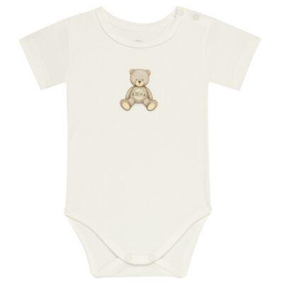 Imagem 1 do produto Body curto para bebe em Pima Cotton Supreme Prime Bear Marfim - Mini & Kids - BDMC0001.65 BODY MANGA CURTA - SUEDINE-M