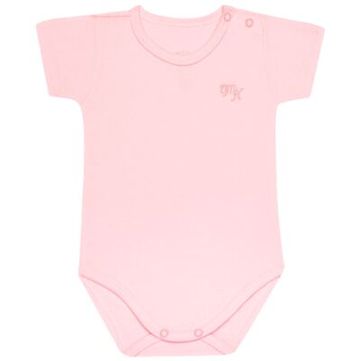 Imagem 1 do produto Body curto para bebe em Pima Cotton Supreme Rosa - Mini & Kids - BSM90 BODY MC SUEDINE ROSA BB-RN