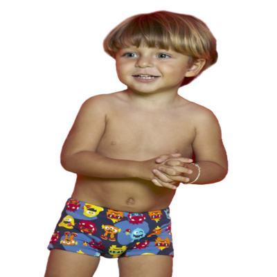 Imagem 1 do produto Sunga boxer para bebe em lycra Monstrinhos - Puket