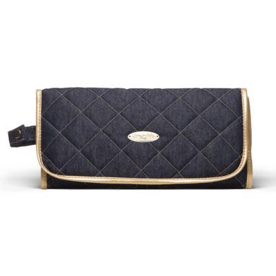 Imagem 5 do produto Mala Maternidade para bebe + Bolsa para viagem Astúrias + Frasqueira Térmica Galícia + Trocador Portátil Golden Denim - Classic for Baby Bags