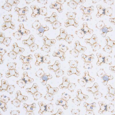 Imagem 2 do produto Macacão polo para bebe em algodão egípcio c/ jato de cerâmica Vintage Blue Bear - Mini & Classic - 3033656 MACACAO MC C/ GOLA SUEDINE URSO-RN