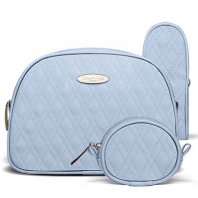Imagem 4 do produto Bolsa maternidade para bebe Veneza + Frasqueira Térmica Milão + Kit Acessórios Golden Koala Azul - Classic for Baby Bags