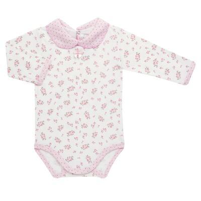 Imagem 2 do produto Body golinha c/ Calça para bebe em suedine Florzinhas - Dedeka - DDK17577/E166 CONJUNTO DE BODY SUEDINE FLORAL-G